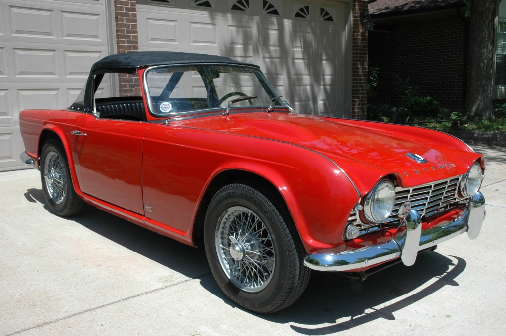 Red 1962 Triumph TR4 Wire Wheels Early Production