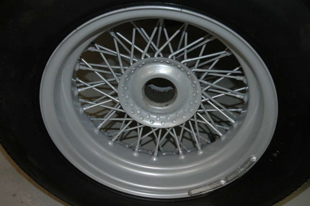 1966 Triumph TR4A Powder Coated Wire Wheel