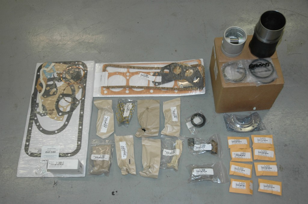 TR4A Engine Rebuild Parts Pistons Liners Gaskets