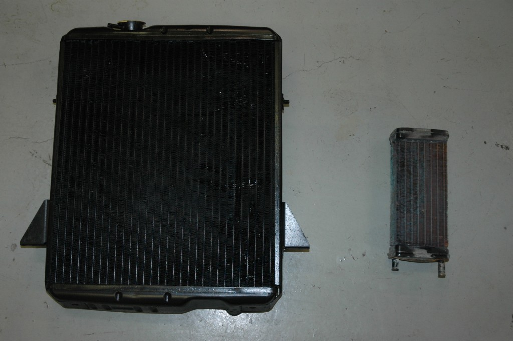 Triumph TR4A Radiator and Heater Core ready to install